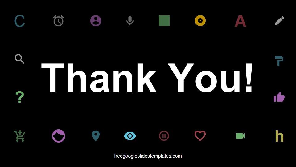 Dark Branding Presentation Thank You Slide - Free Google Slides