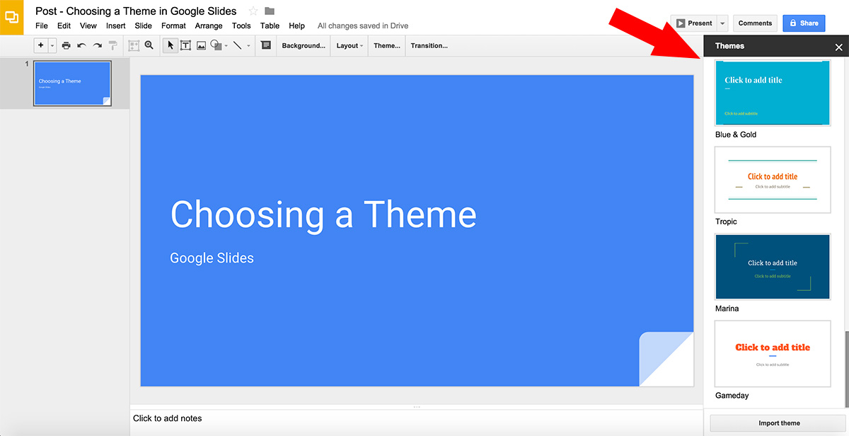 How to Choose a Theme in Google Slides - Free Google Slides Templates - google slides themes to import
