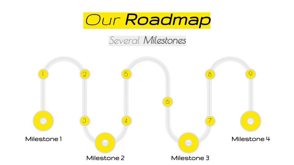 Flat Google Slides Roadmap Template - Free Google Slides Templates