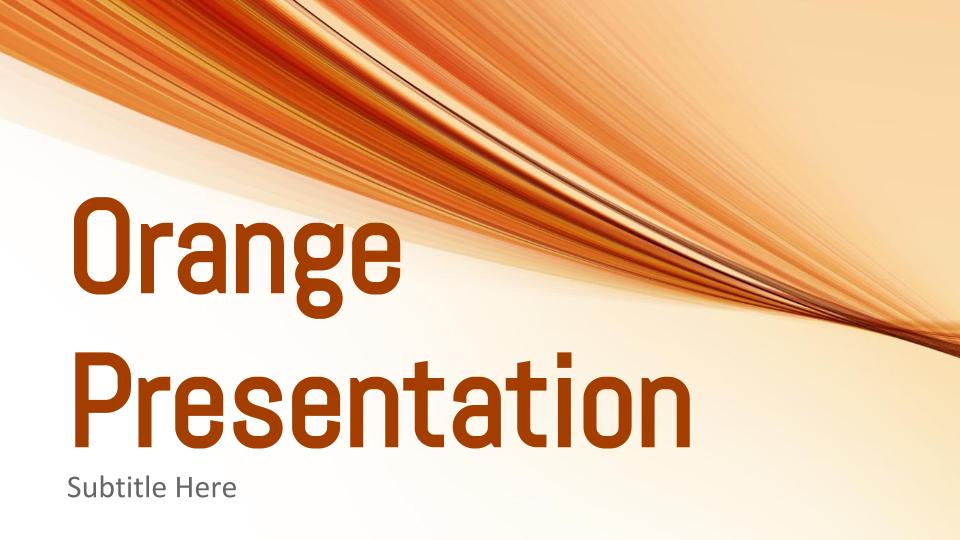 Orange Presentation Google Slides Templates - Free Google Slides