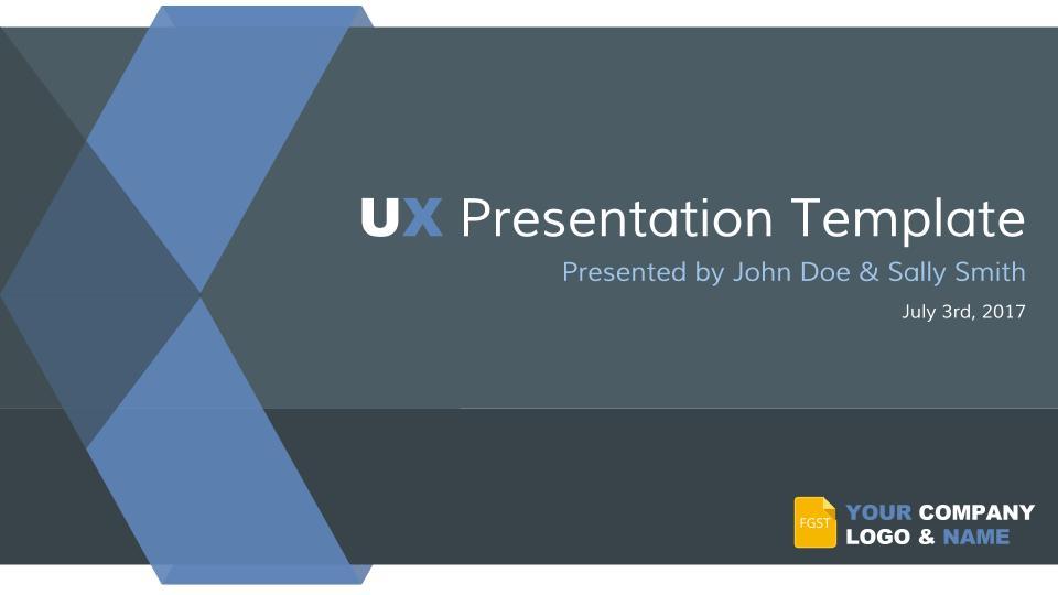 Google Slides Themes UX Template - Free Google Slides Templates