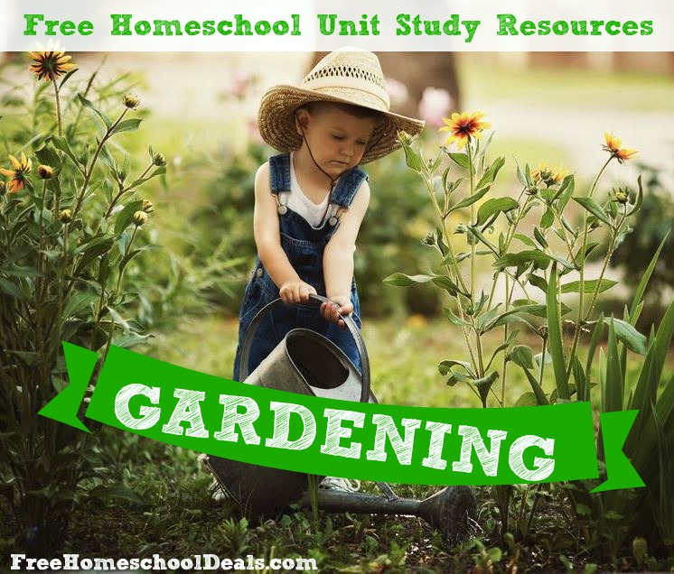 Gieter Action Free Homeschool Gardening Unit Study Resources | Free