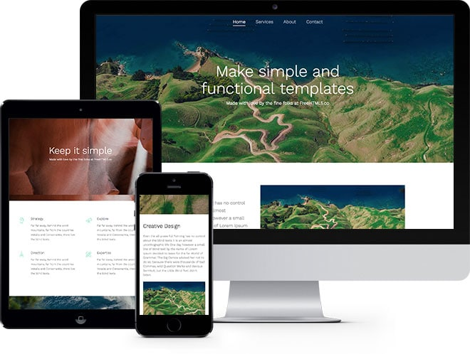 Simple Free Website template Using Bootstrap