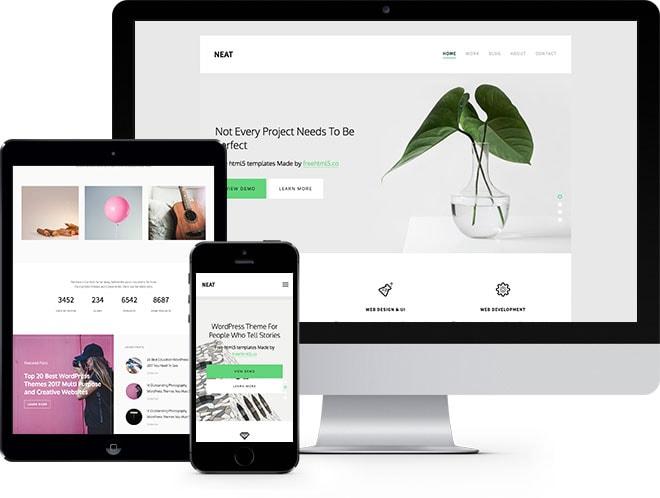 Neat Free HTML5 Bootstrap Website Template for Portfolio - online portfolio template