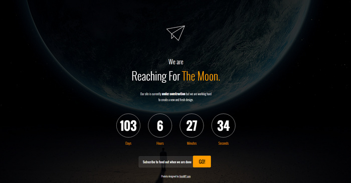 40 Best Free Coming Soon Html Templates, Under Construction Templates