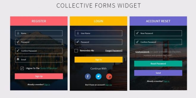 50 Best Free HTML5 Form Templates 2018 Login  Signup Forms