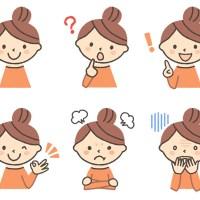 女の子の表情イラスト6種