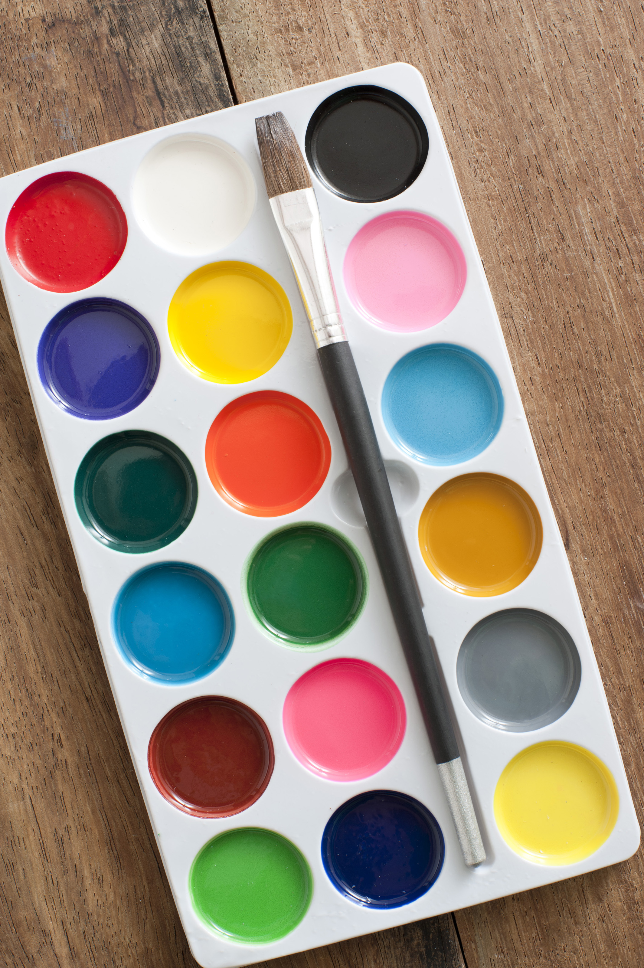 Bad Inspiration Free Stock Photo 12189 Poster Paint Set With Brush