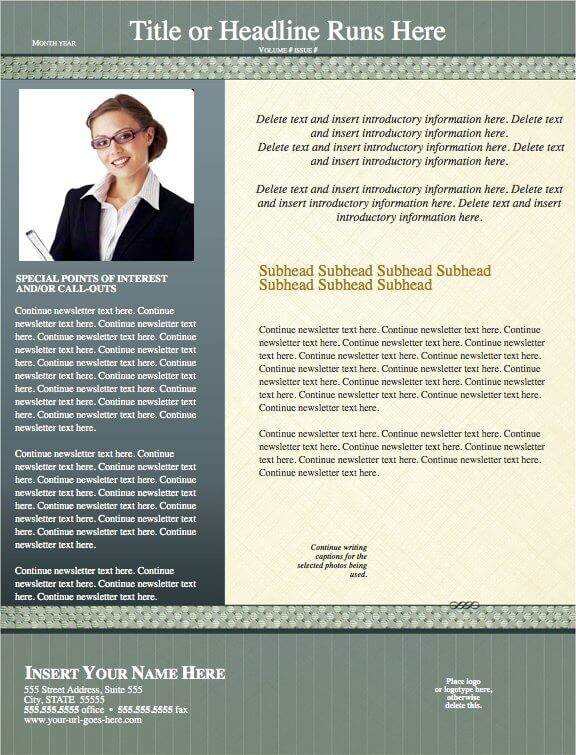 Timeless Legal Newsletter Template for Pages - Free iWork Templates