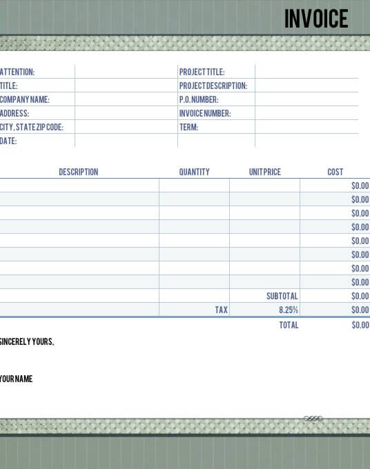 Timeless Legal Invoice Template for Numbers - Free iWork Templates