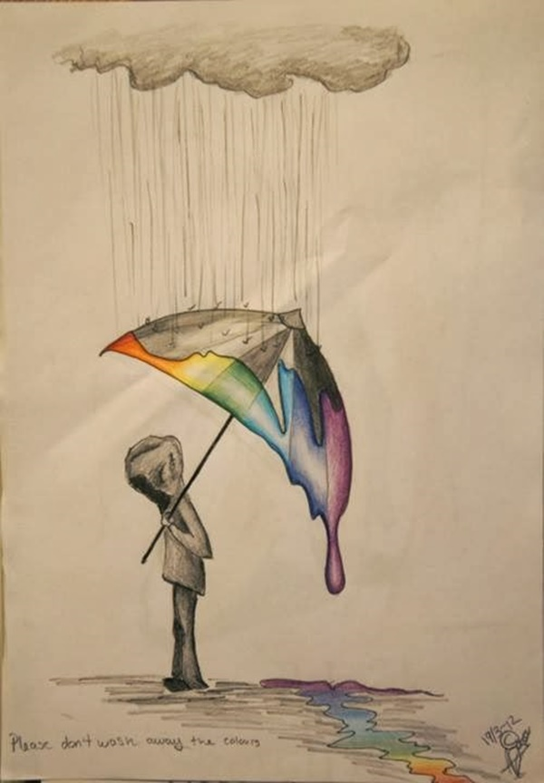 Regenschirm Design 40 Creative And Simple Color Pencil Drawings Ideas