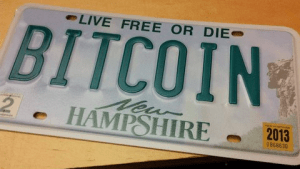 Bitcoin NH License Plate