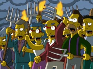 Simpsons Pitchforks, Torches