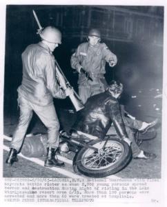 National Guard at Weir's Beach Riots