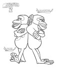 Print out Madagascar 2  Chimpanzee Mason and Phil coloring page