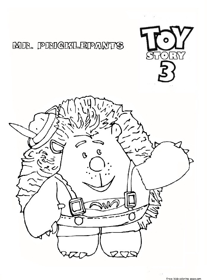 Cute Halloween Cat Wallpaper Toy Story 3 Mr Pricklepants Coloring Pages For Kidsfree