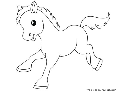 Latest Cute Baby Wallpaper Pony Baby Animals Coloring Pages For Kidsfree Printable