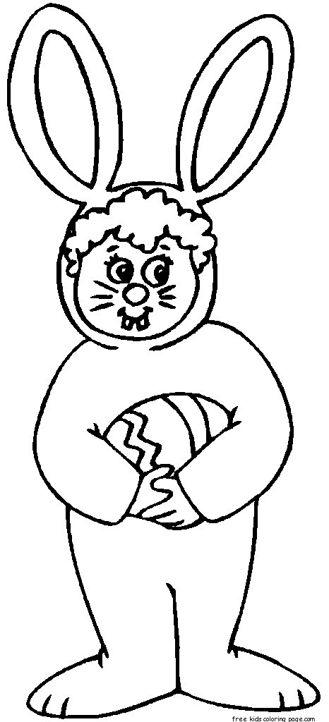 Cute Christmas Kitten Wallpaper Child Easter Bunny Costume Coloring Pages For Kidsfree