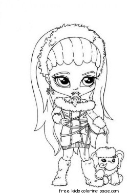 Kids Animal Wallpaper Abbey Bominable Little Girl Monster High Coloring Pagefree