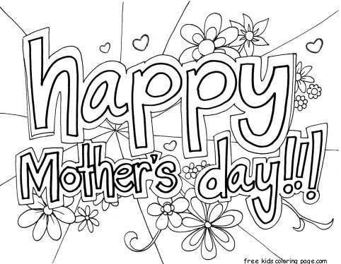 Print out happy mothers day grandma coloring page for kidsFree - online printable mothers day cards