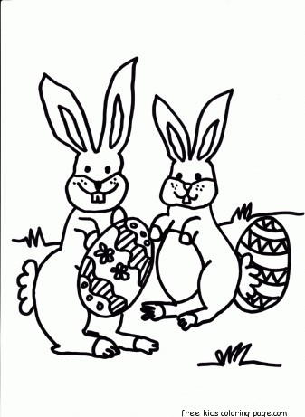 Strawberry Shortcake Girl Wallpaper Printable Easter Bunny Hiding Eggs Coloring Page For