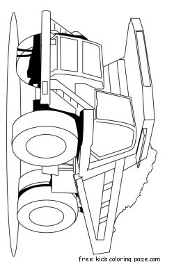 Peterbilt And Girls Wallpaper Print Out Peterbilt Semi Truck Coloring Pages For Kidsfree