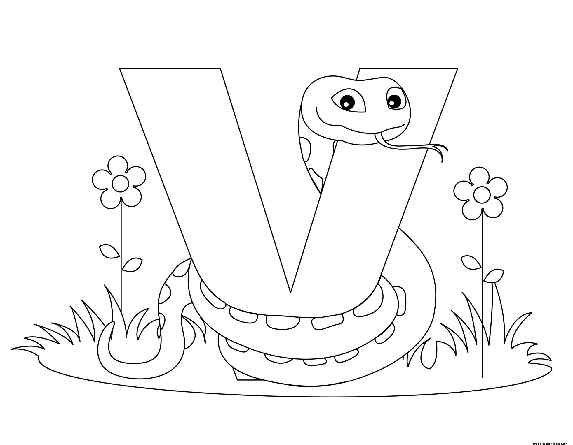 Printable Traceable Alphabet Letter V Worksheet For