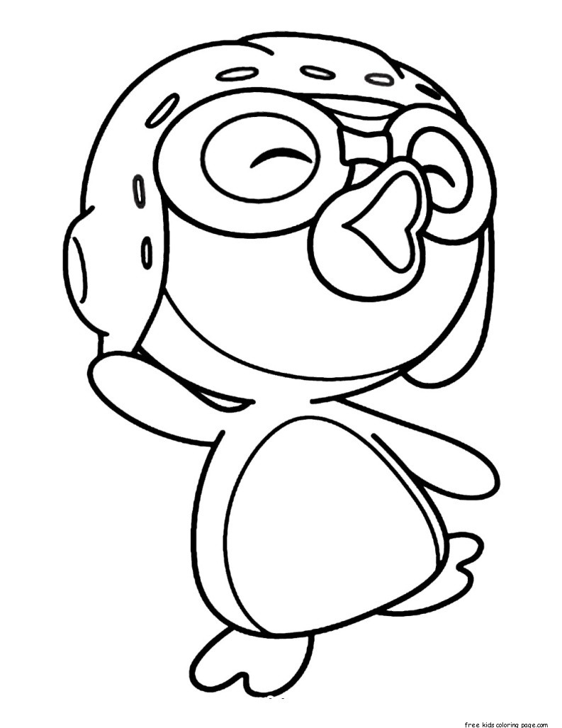 Pororo Cute Wallpaper Printable Pororo The Little Penguin Coloring Pages For