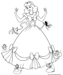 Printable cinderella coloring pages for kids