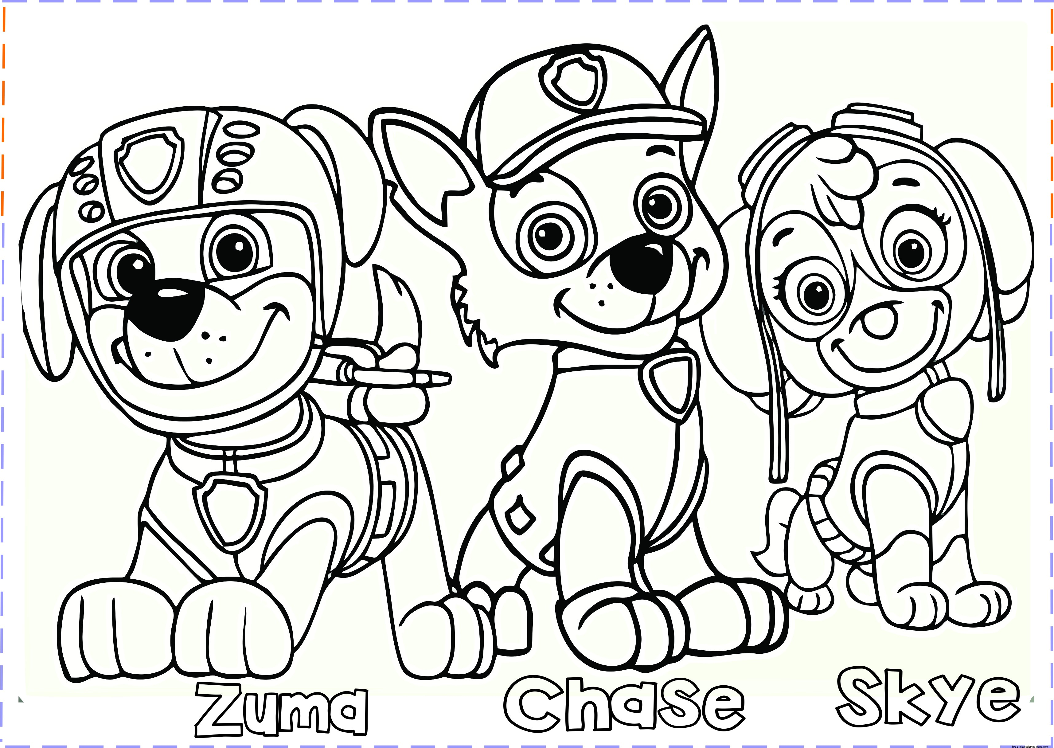 Coloring Pages Of Paw Patrol - Eskayalitim
