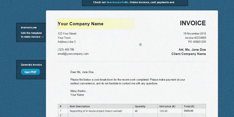5 Easy, Free Ways To Generate Invoices For Your Clients - creat an invoice