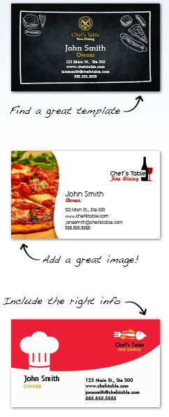 Food Industry  Restaurant Business Cards for Free