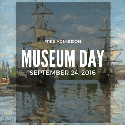 Save the Date! On September 24th, you'll get free admission to museums!