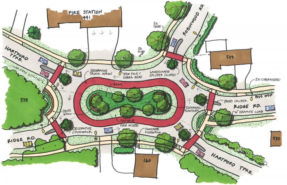 Hamden Roundabout Freeman Companies