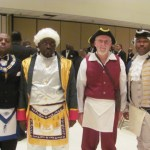 Grand Raising with other colonial costumed degree members