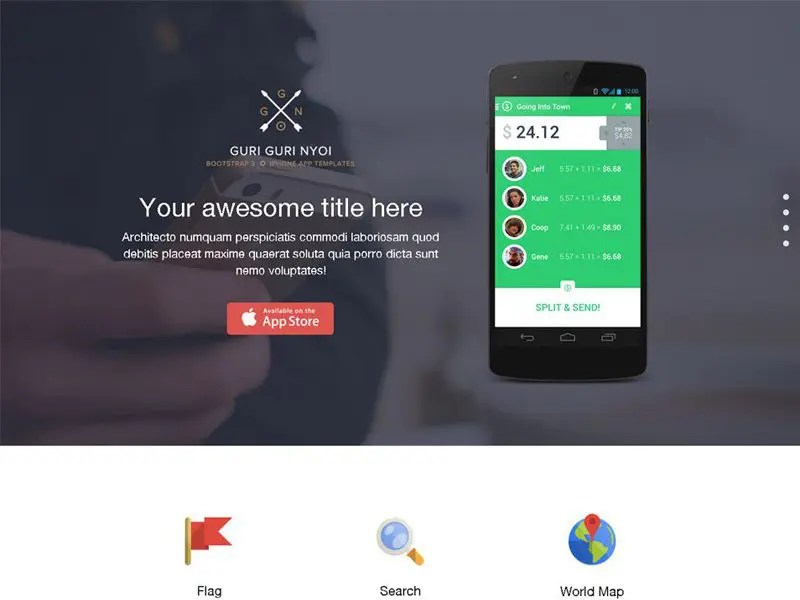 13 Best App Landing Page Bootstrap Templates In 2016 - Freemium Download - Free App Template