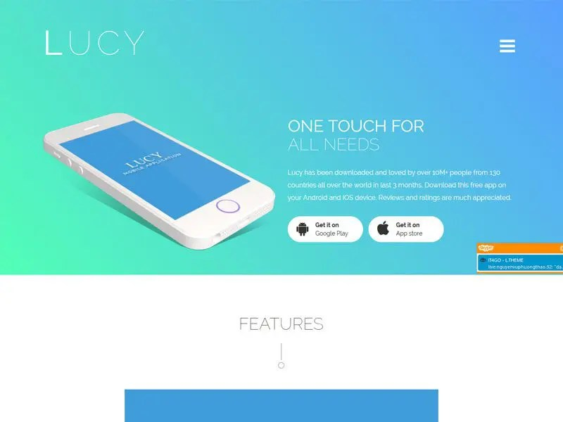 Lucy - Bootstrap App Landing Page Template