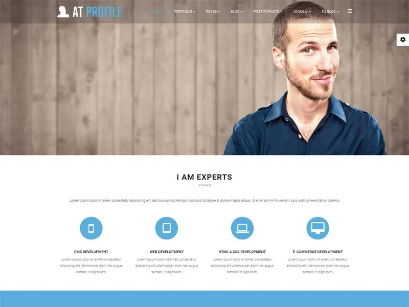 AT Profile Free Joomla CV Resume Template - Freemium Download - free profile templates