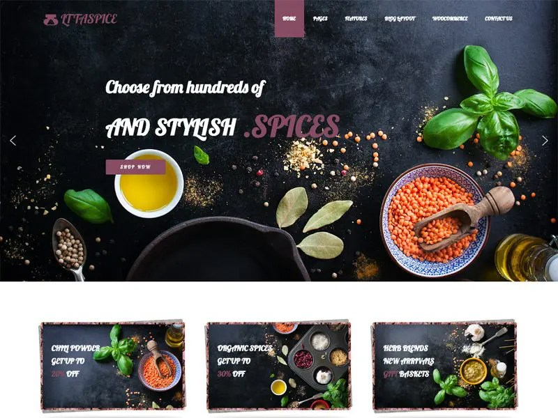 LT Taspice WordPress Organic Food Theme - Freemium Download