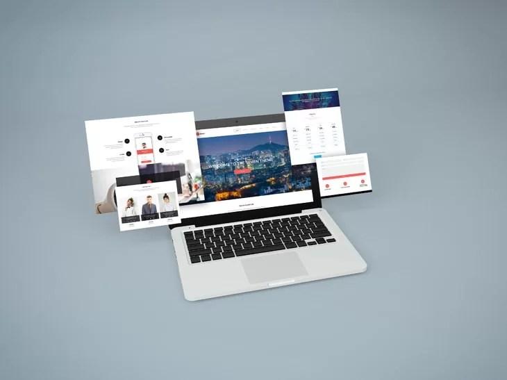 Notebook Website Free Mockup Freemockupnet