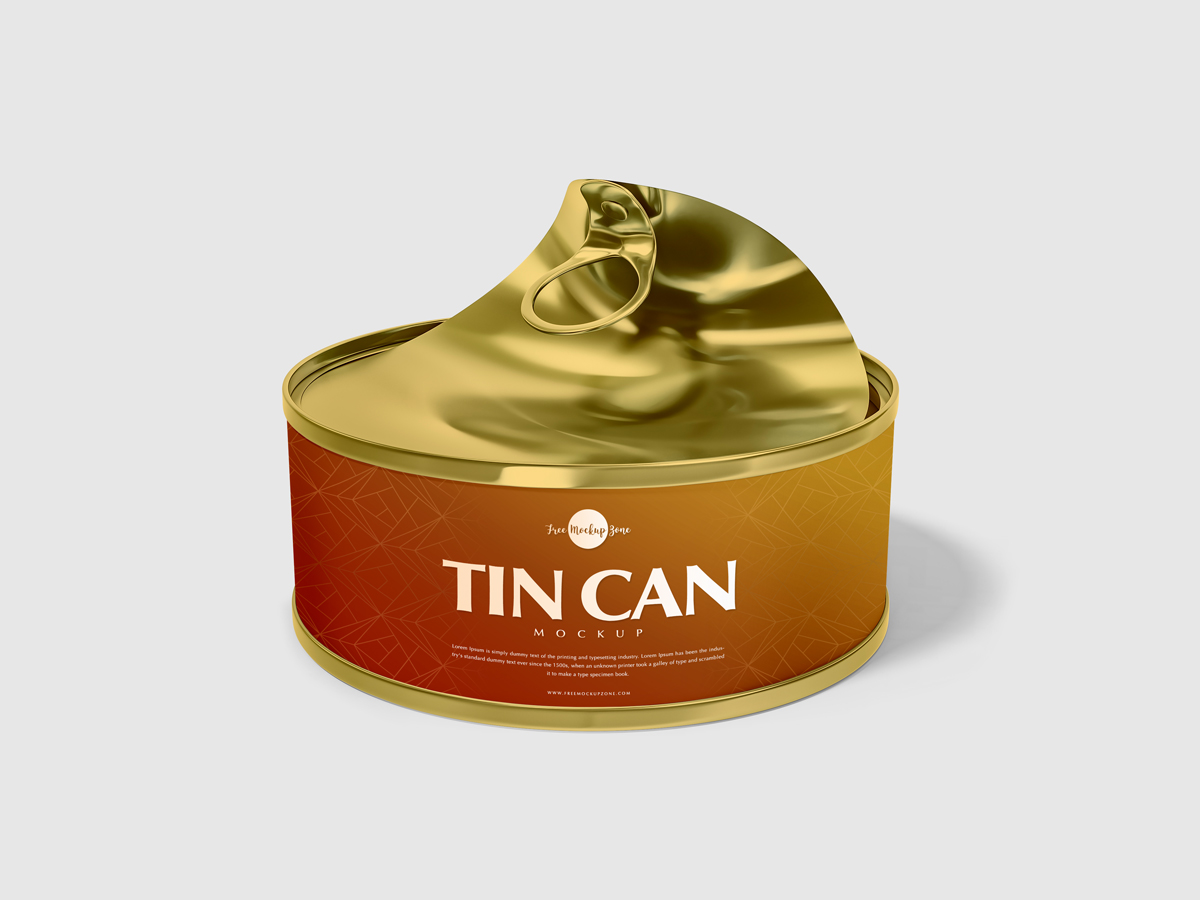 Free Open Tin Can Mockup Psd For Presentation 2018 Free