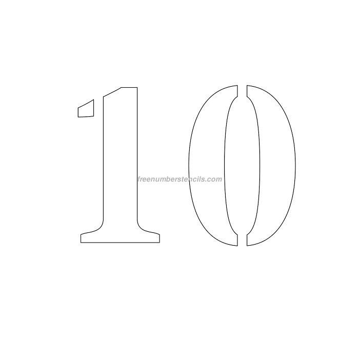 Free 6 Inch 10 Number Stencil - Freenumberstencils