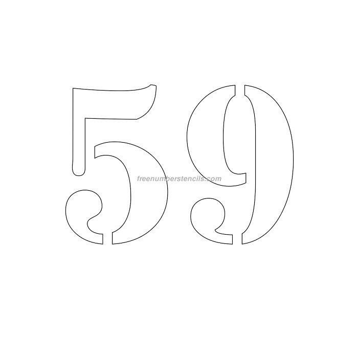 Free 6 Inch 59 Number Stencil - Freenumberstencils