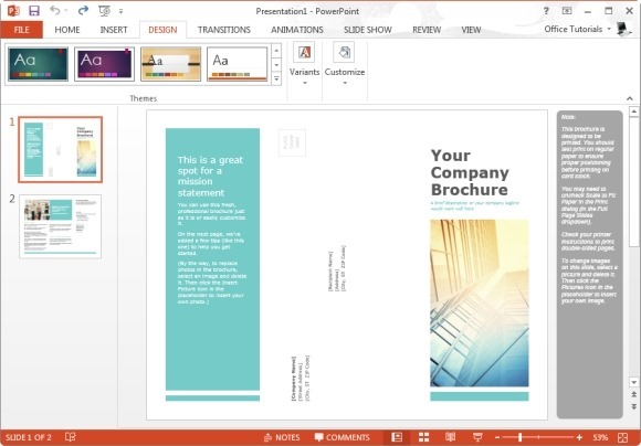 powerpoint templates brochure - Trisamoorddiner
