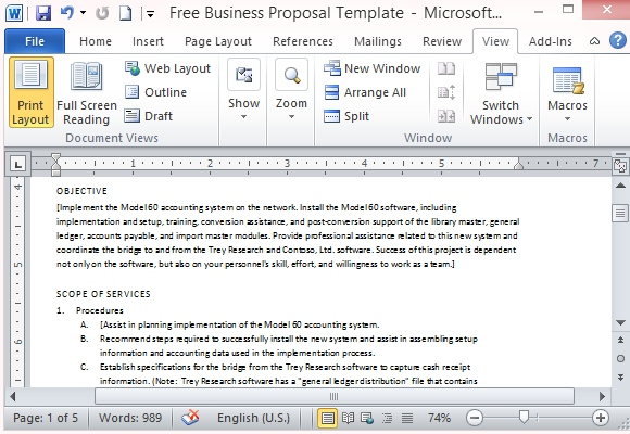business proposal template microsoft - company proposal format
