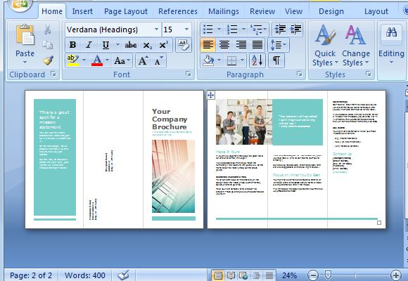 how to make a 3 page brochure in word - Leonescapers