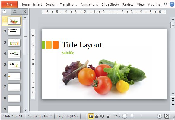 Food Presentation Template for PowerPoint
