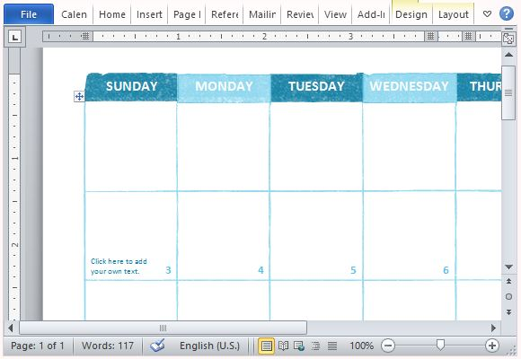 Free Academic Calendar Template for Microsoft Word - academic calendar template