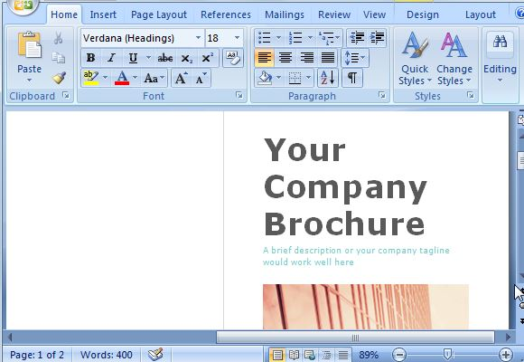 brochure microsoft word
