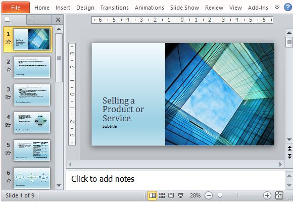 Business Sales Presentation Template for Products And Services - sales presentation template